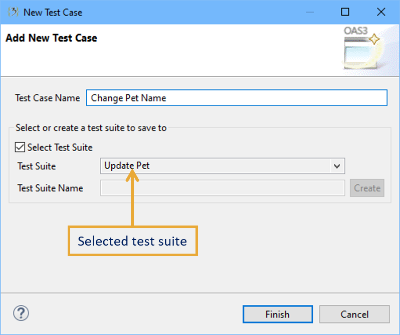 Create testcase select testsuite.png